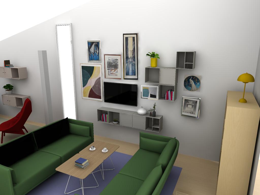 Rendering av vardagsrum